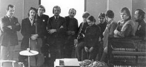 participants of Festival in Yaroslavl 81.  From left to right Jur. Panasenko, V.Makarov, A.Aleksandrov, V.Melnikov, Efim Barban,   I.Butman, E.Shlykova, S.Kurehin, S.Belichenko,   P.Vishnjauskas, somebody?