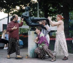 Russian Saxophonic Mafia forces Lorelle on quay of Rhein.